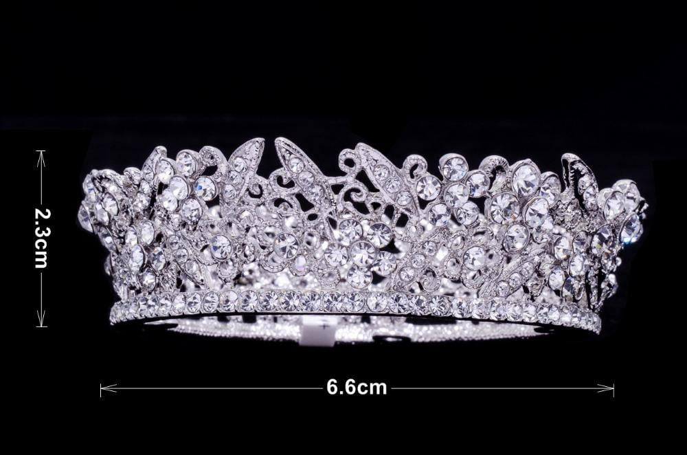 Cubic crystals wedding  bridal royal tiara diadem crown JHA3205B - sepbridals