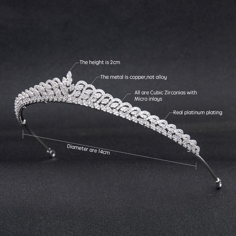 Cubic zircon wedding bridal tiara diadem hair jewelry CH10219 - sepbridals