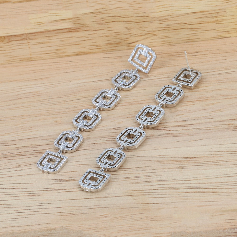 CZ Cubic Zirconia Drop Dangle Bridal Wedding Earring CE10119 - sepbridals