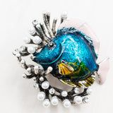 Vintage Style Rhinestone Crystals Tropical Fish with Coral Brooch  BQ0544 - sepbridals