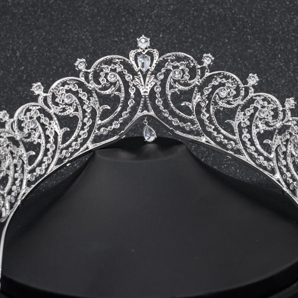 Cubic Zirconia Wedding Bridal Princess Royal Tiara Crown CH10296 - sepbridals