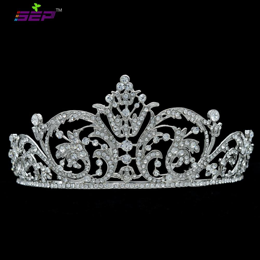 Real Austrian crystals Princess Tiara Diadem for Wedding XBY158 - sepbridals
