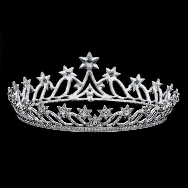 Real Austrian Crystals Tiara Crown Bridal Wedding Hair Jewelry SHA8768 - sepbridals