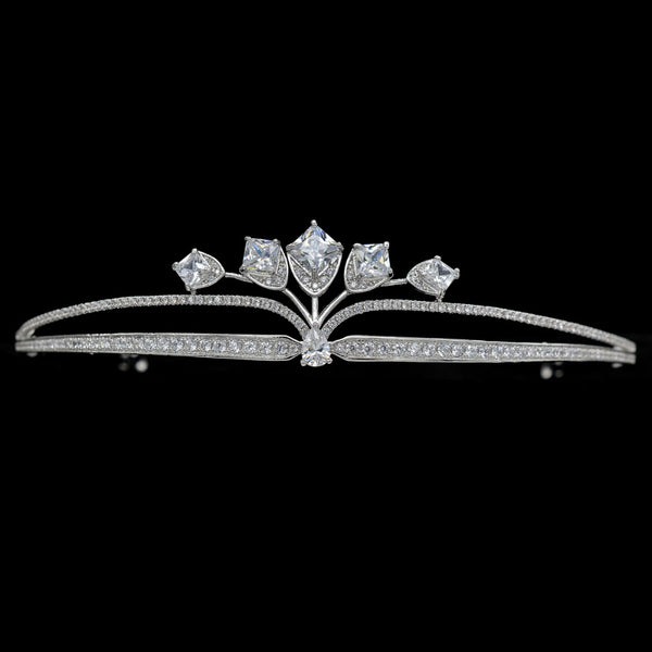 Cubic zircon wedding bridal tiara diadem hair jewelry TR15090 - sepbridals