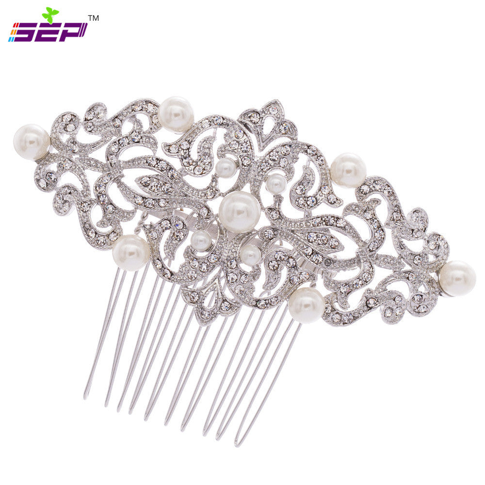 Rhinestone Crystals Hairpins Bridal Wedding Hair Combs CO1456R1 - sepbridals