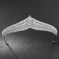 Cubic Zirconia Wedding Bridal Gold&Silver Flower Tiara Crown S90004 - sepbridals