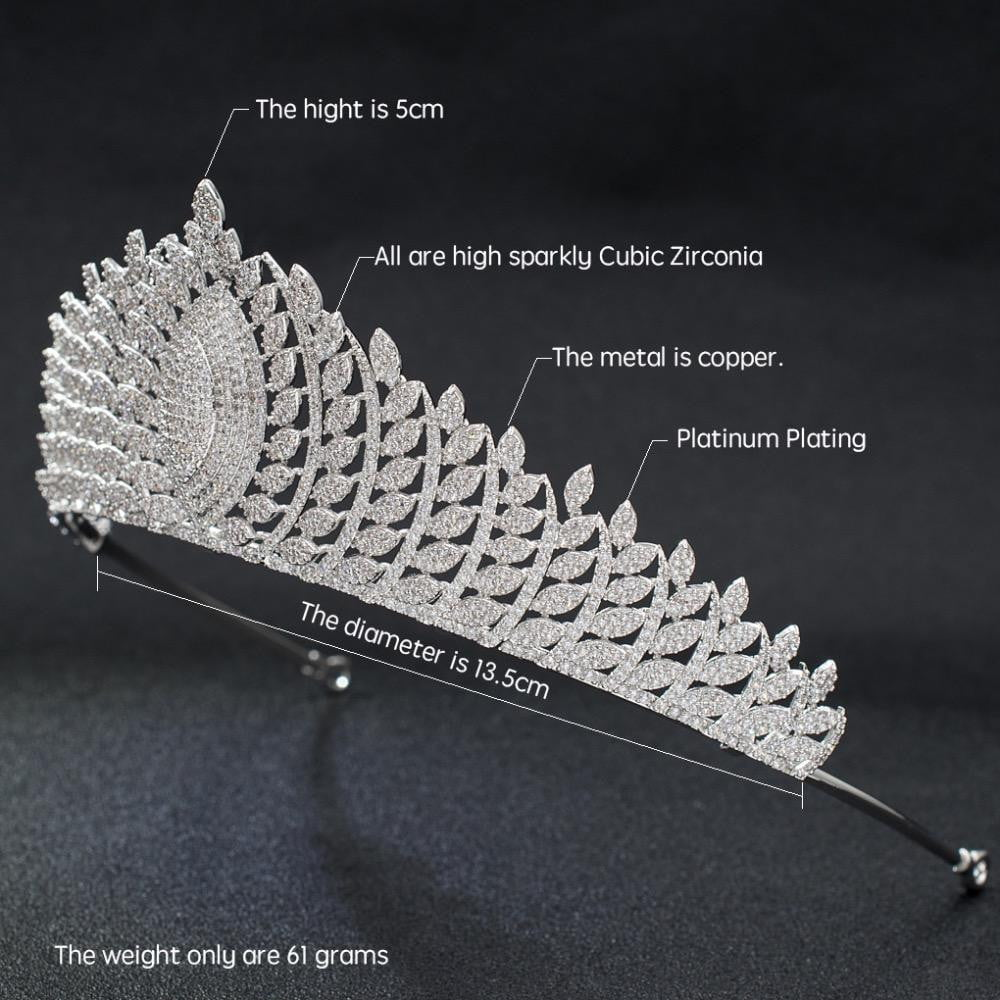 Cubic zirconia wedding bridal tiara diadem hair jewelry S30006 - sepbridals