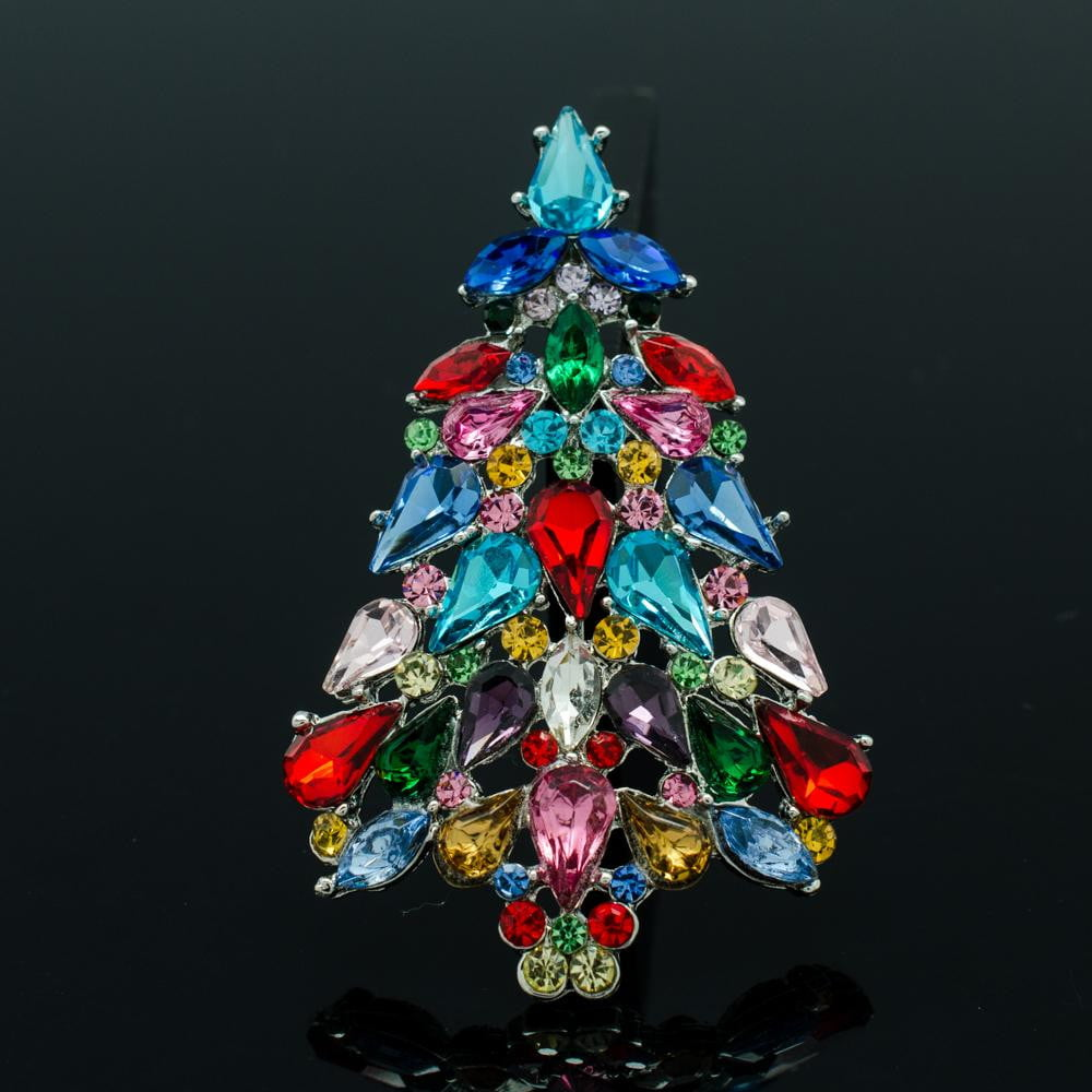 Austrian Crystals Rhinestone Christmas Tree Broach  P5458 - sepbridals