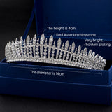Real Austrian Crystal Rhinestone Wedding Bridal Royal Tiara JHA7758 - sepbridals