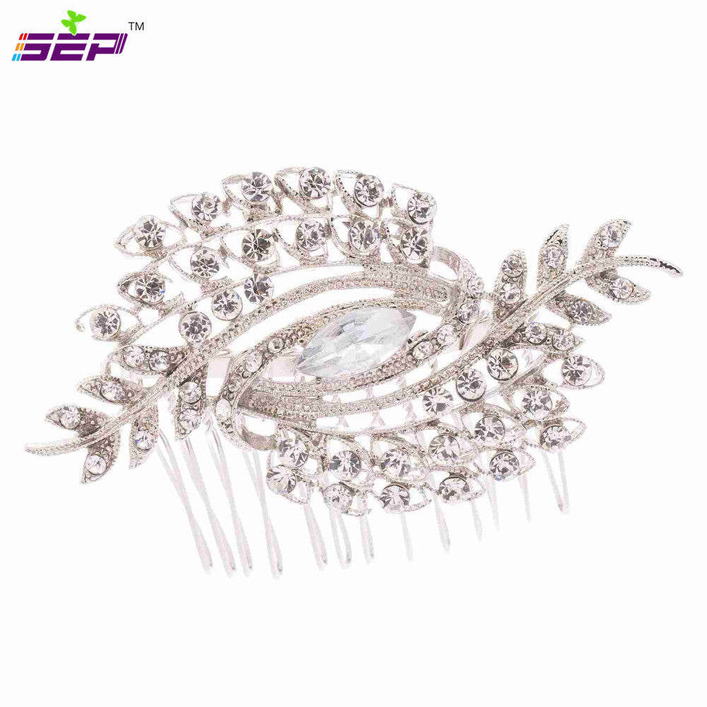 Rhinestone Crystal Bridal Hair Comb Women Wedding Hair Jewelry Accessories 4211 - sepbridals