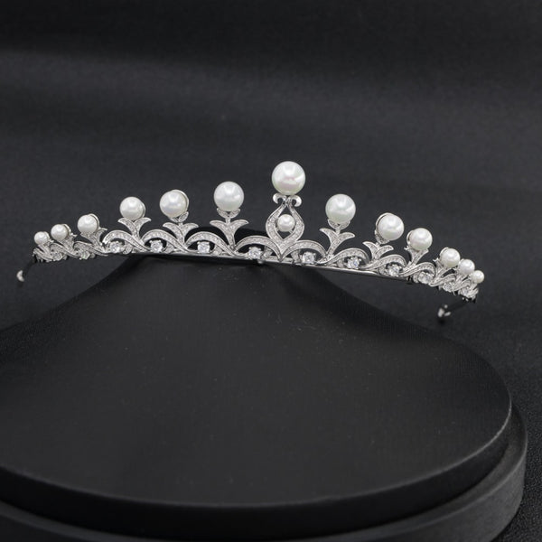 Cubic zircon wedding  bridal royal tiara diadem crown CH10046 - sepbridals