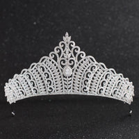 Cubic Zirconia Wedding Bridal Royal Tiara Diadem Crown  CH10133 - sepbridals