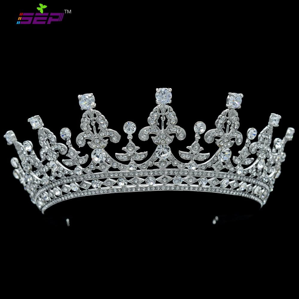 Crystals wedding bridal classic tiara crown diadem  05365R - sepbridals