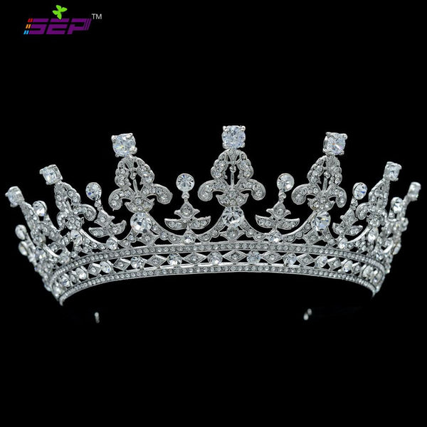 Crystals gold wedding bridal classic tiara crown diadem  05365R - sepbridals