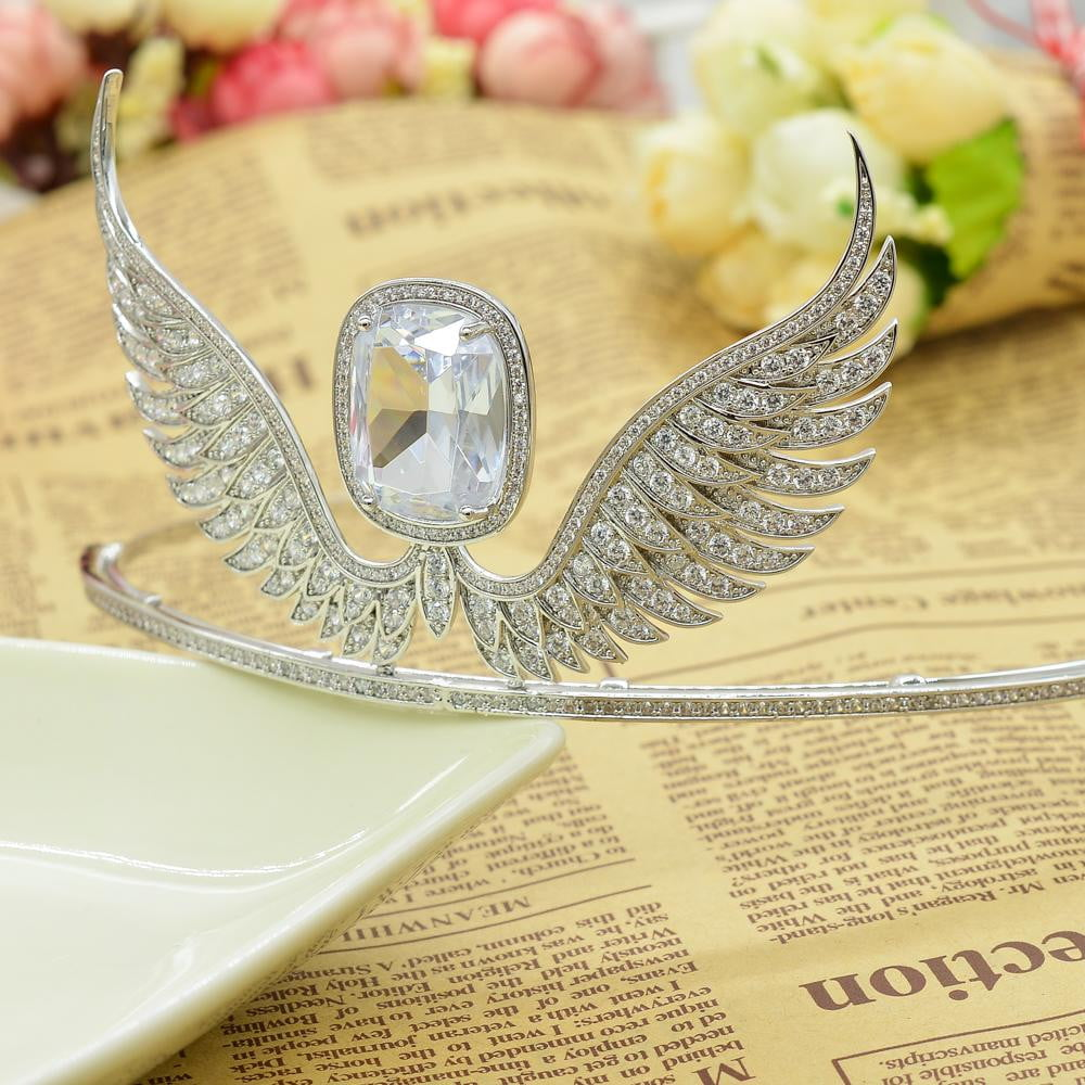 Cubic zircon wedding bridal tiara diadem hair jewelry TR15100 - sepbridals