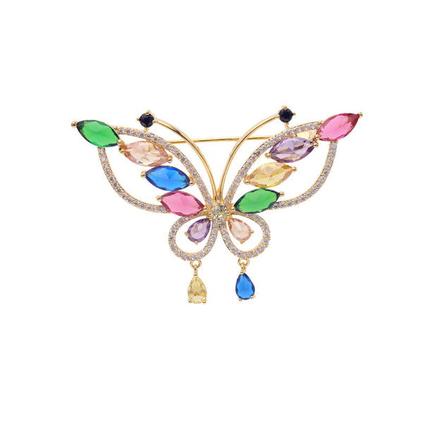Fashion Multicolors Cubic Zirconia Butterfly Brooch LY05319 - sepbridals