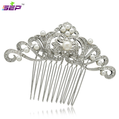 Rhinestone Crystal Wedding Bridal  Hairpins Hair Comb  CO4144R - sepbridals