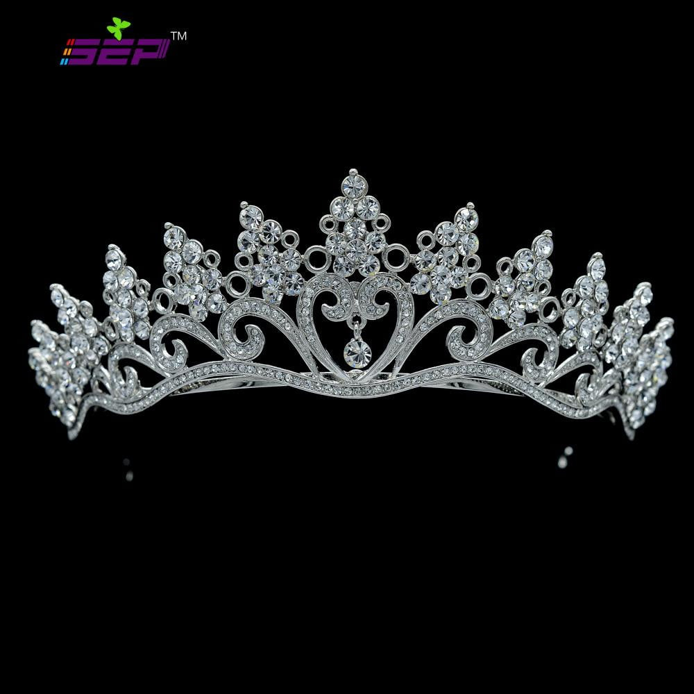Austrian Crystal Rhinestone Wedding Bridal Royal Tiara Crown SHA8571 - sepbridals