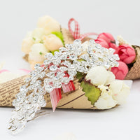 Flower Rhinestone Crystals Wedding Bridal Long Hair Comb 14104200048601 - sepbridals