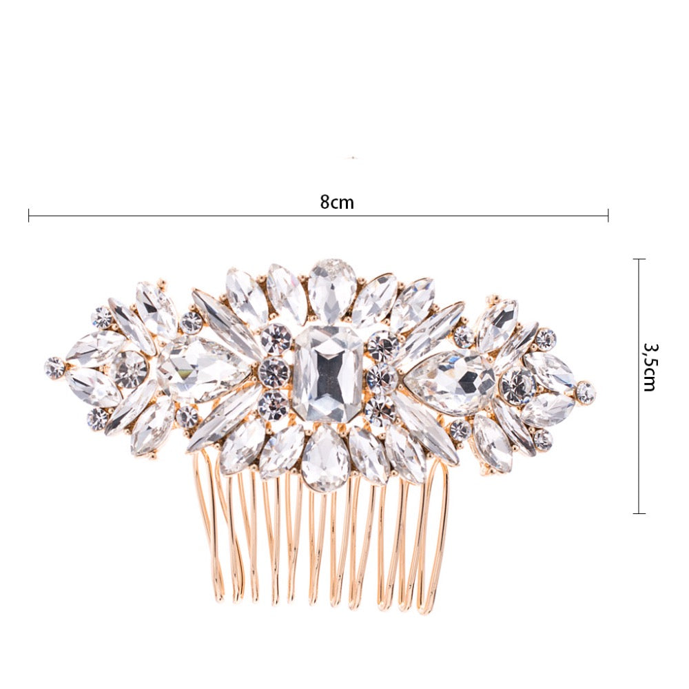 Rhinestone Crystals Bride Wedding Hair Combs Side Hairpins  Accessories GT4381 - sepbridals