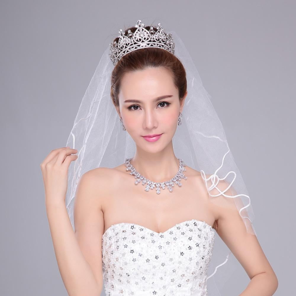 Cubic crystals wedding  bridal royal tiara diadem crown SHA8645 - sepbridals