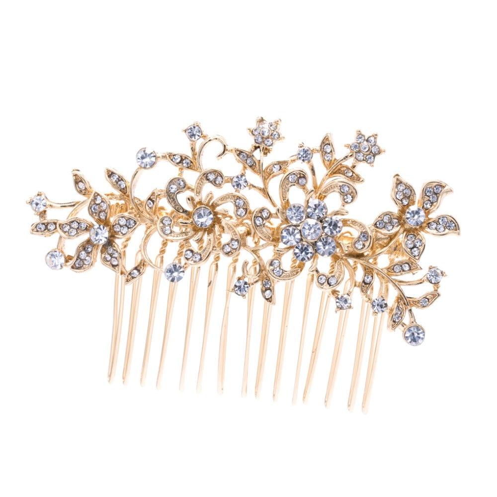 Rhinestone Crystal Women Wedding Bridal Hair Veil Comb Hairpins  CO2251R - sepbridals