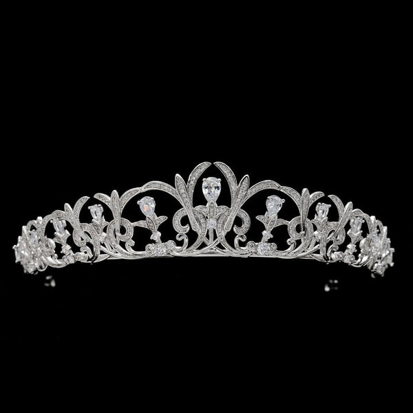 Cubic zircon wedding bridal tiara diadem hair jewelry S16414 - sepbridals