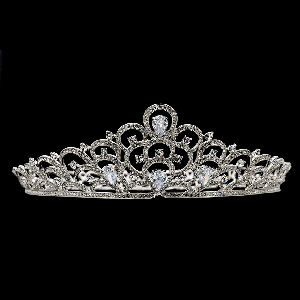 Cubic zircon wedding bridal tiara diadem hair jewelry SHA8780 - sepbridals