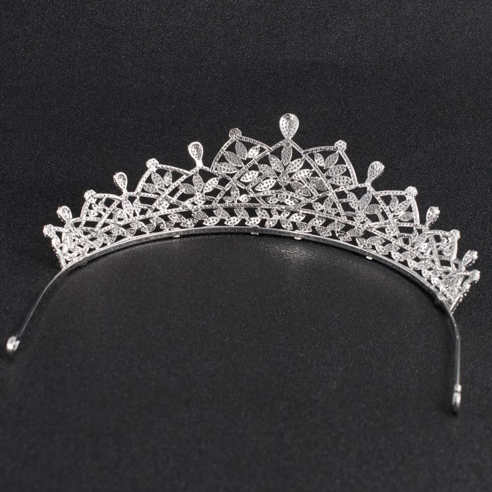 Cubic zirconia wedding bridal tiara diadem hair jewelry CH10129 - sepbridals