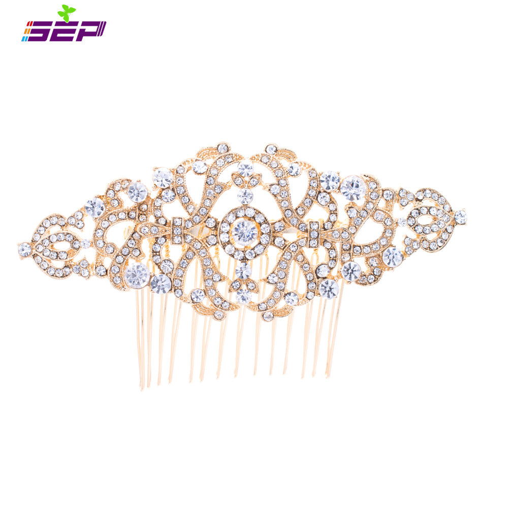 Rhinestone Crystal Wedding Bridal  Hairpins Hair Comb  COFA5049GOL - sepbridals