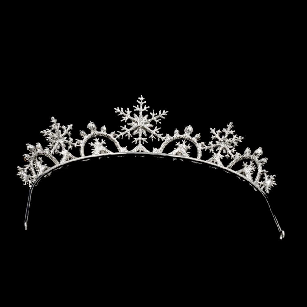 Snowflake Rhinestone Bridal Wedding Crown Tiara Hair Jewelry SHA8756 - sepbridals