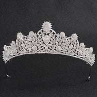 Cubic zirconia wedding bridal tiara diadem hair jewelry CH10124 - sepbridals