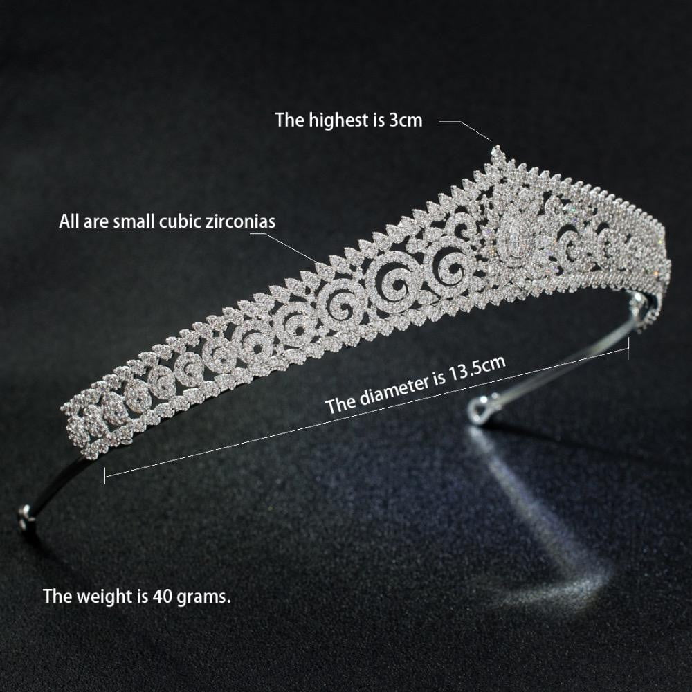 Cubic Zirconia Flower Tiara Crown Bride Wedding Hair Accessories S17803 - sepbridals