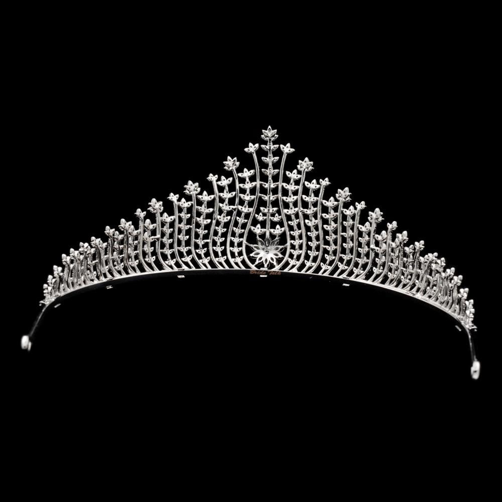CZ Cubic Zircon Wedding Bridal Royal Tiara Diadem Crown  CH10016 - sepbridals