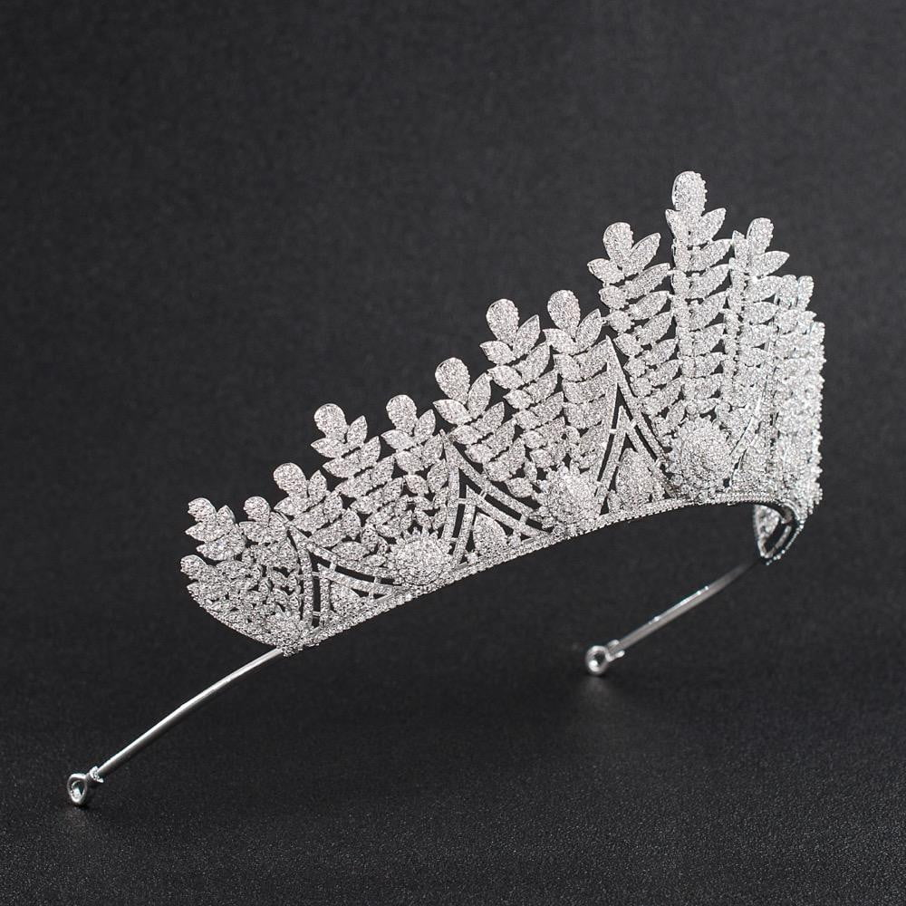 Cubic Zirconia Wedding Bridal Tiara Diadem Hair Jewelry CH10128 - sepbridals