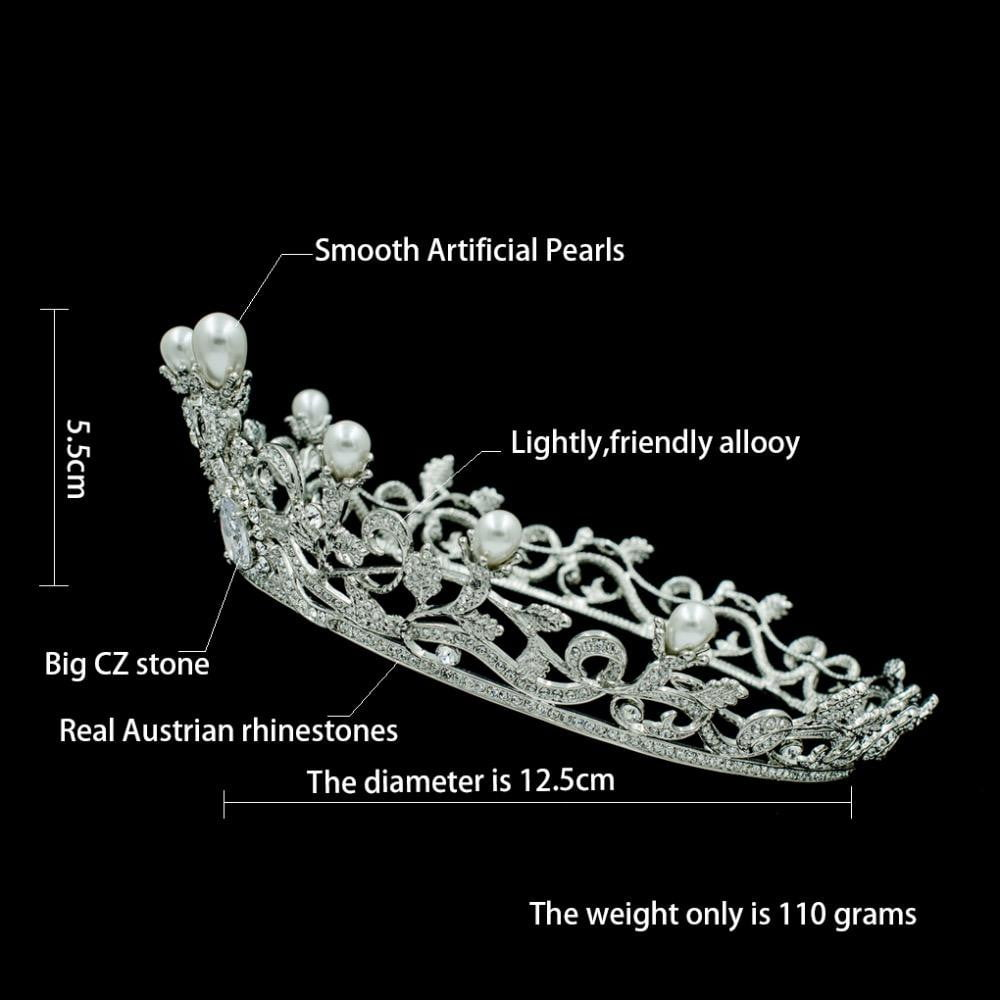 Cubic crystals wedding  bridal royal tiara diadem crown SHA8769 - sepbridals