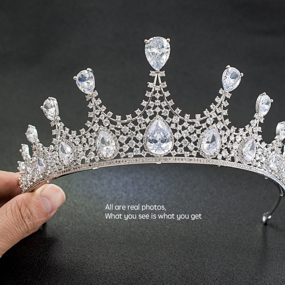 Cubic zircon wedding bridal tiara diadem hair jewelry HG180 - sepbridals