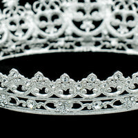 Austrian Crystals Rhinestone Full Circle Round Bridal Wedding Tiara Crown SHA8734 - sepbridals