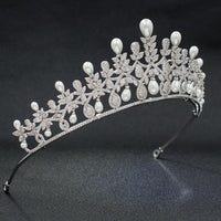 Cubic zirconia wedding bridal tiara diadem hair jewelry A00017 - sepbridals