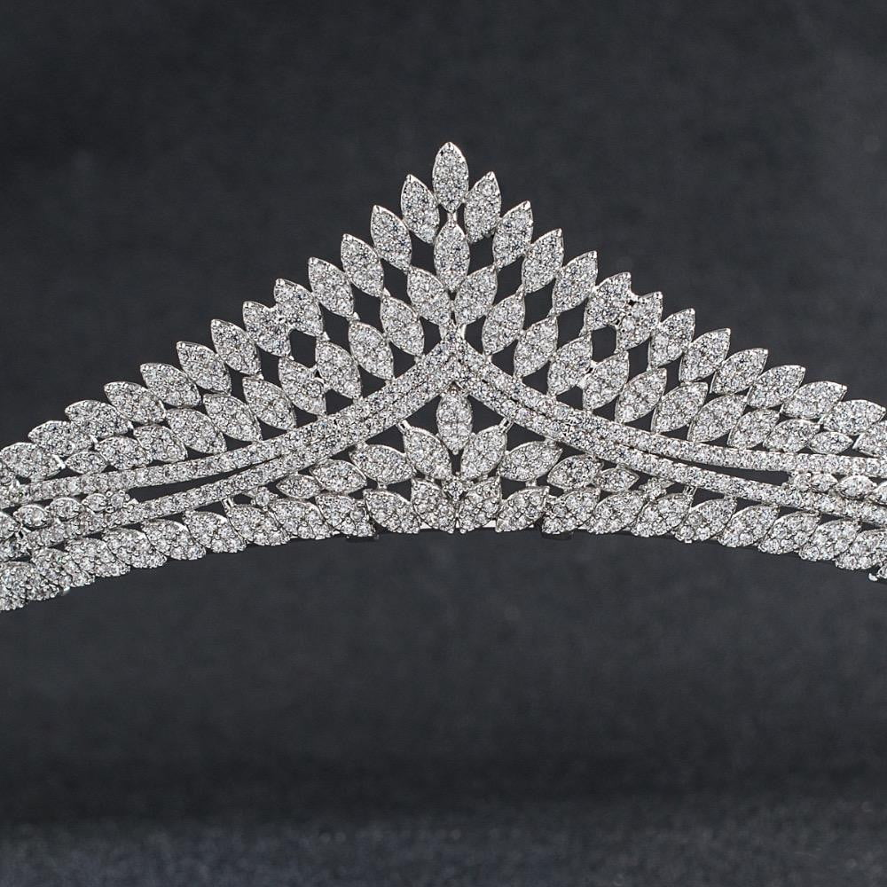 Cubic zircon wedding bridal tiara diadem hair jewelry CH10144 - sepbridals