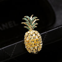 New Fashion Gold AAA Zircon Pineapple Brooch  HR0012140 - sepbridals