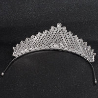 Cubic Zirconia Wedding Bridal Royal Gold Tiara Diadem Crown  CH10066 - sepbridals