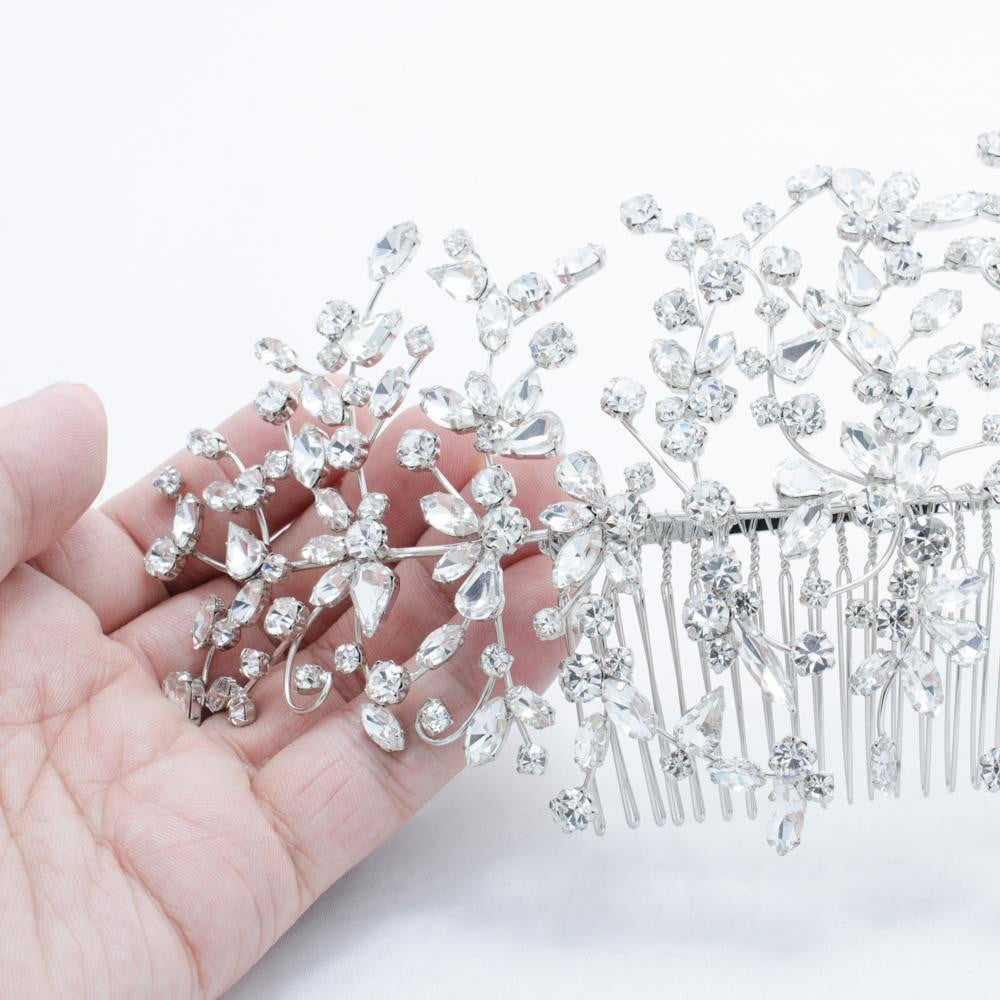Crystals Rhinestone Big Bridal Wedding Headbands Hair Combs 0621R - sepbridals