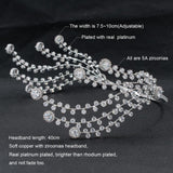 Cubic Zirconia Bridal Wedding Big Headband Hair Band Tiara for Women CHA10051
