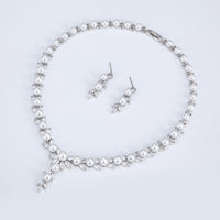 Cubic zirconia bride wedding necklace earring set top quality CN10248 - sepbridals
