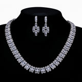 Cubic zirconia bride wedding necklace earring set top quality  CN10303 - sepbridals
