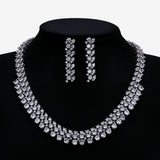 Cubic zirconia bride wedding necklace earring set top quality  CN10286 - sepbridals