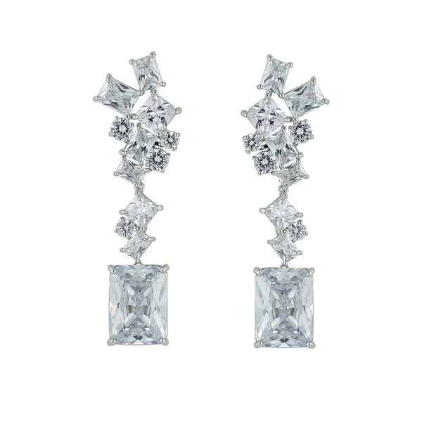 Crystal Cubic Zirconia CZ Copper Water Drop Dangle Earring CE10588 - sepbridals