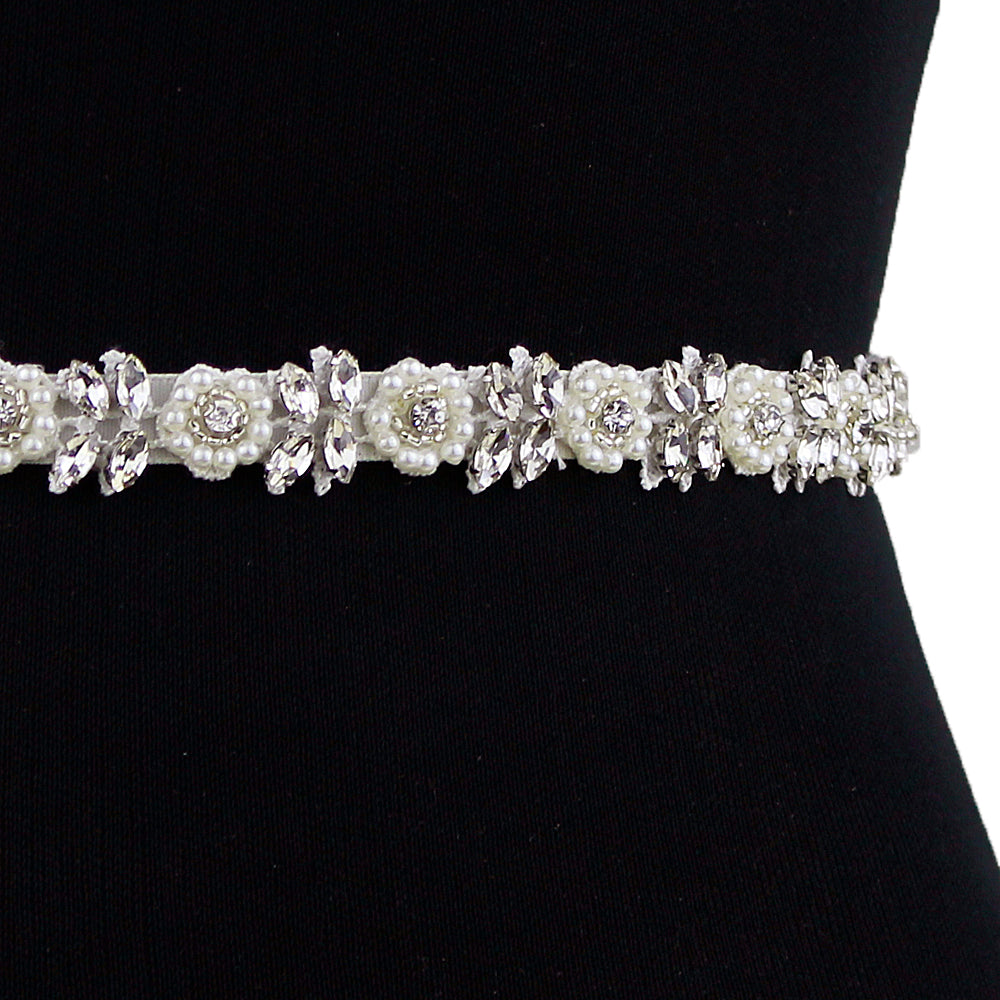 Handmade Rhinestone Crystals Bridal Sash Wedding Dress Belt S101 - sepbridals