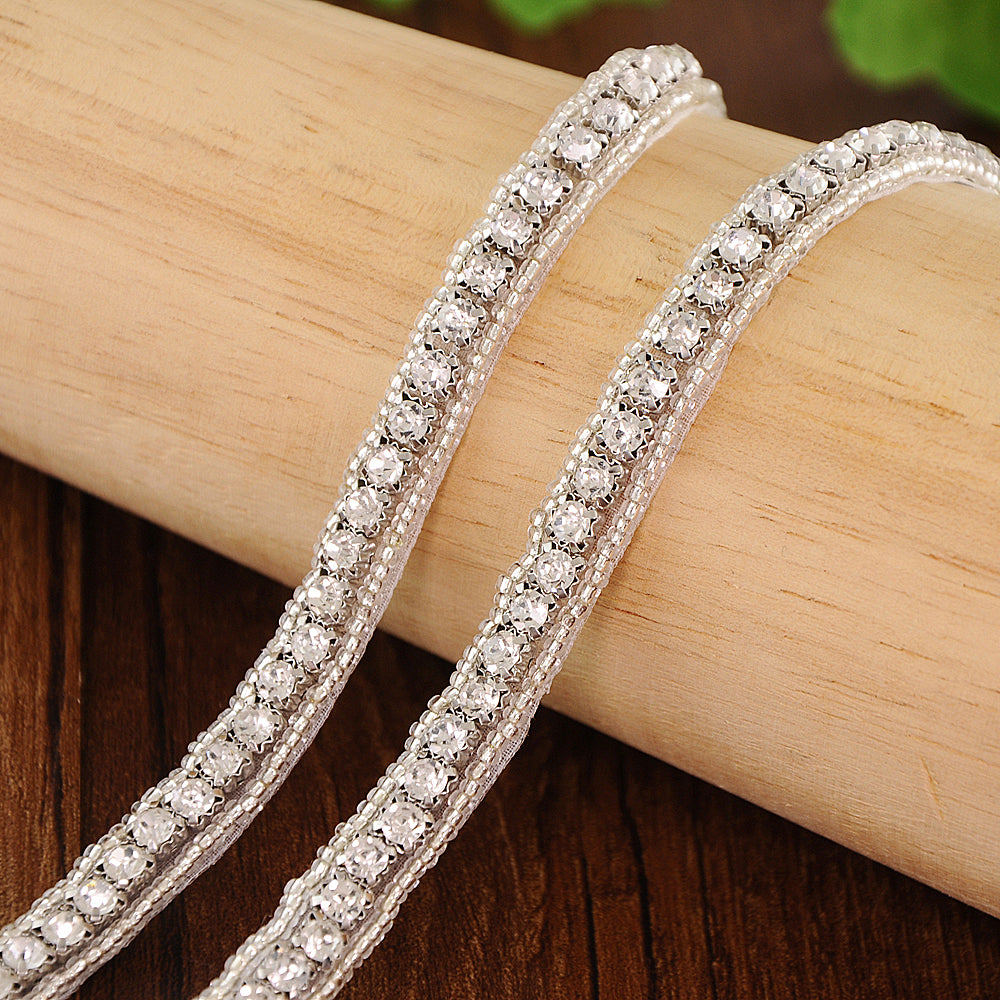 Handmade Rhinestone Crystals Wide Wedding Dress Sash Belt S217 - sepbridals